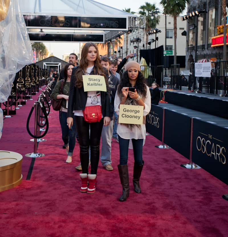 Stand-ins on the red carpet