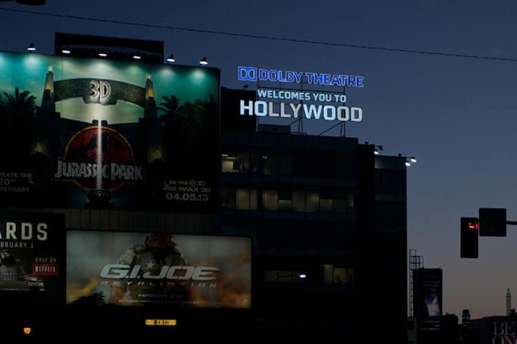 Oscars Dolby Sign