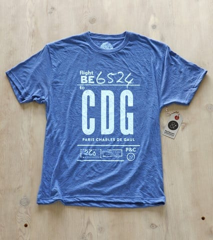 Pilot and Captain Airport Code t-shirt CDG