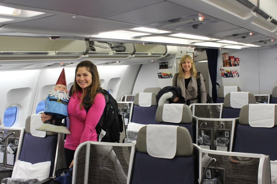 Traveler Tuesday – Ashley of Travel with Castle on an airplane