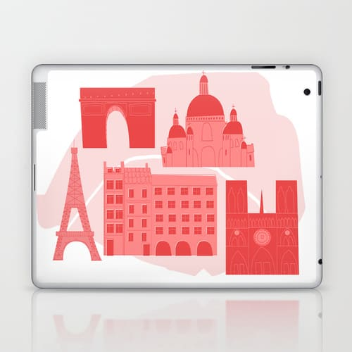 Paris iPad Skin from Society 6