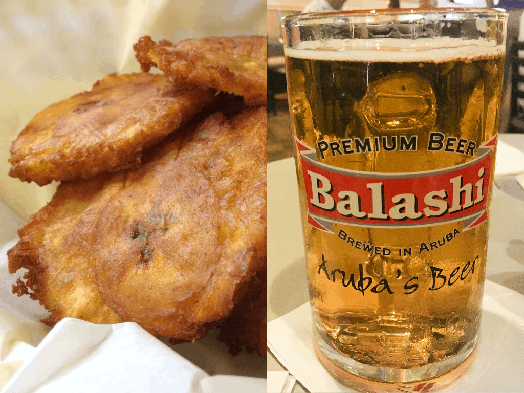 Fried Plantains and Balashi beer