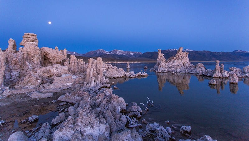 Moon on Mono Lake