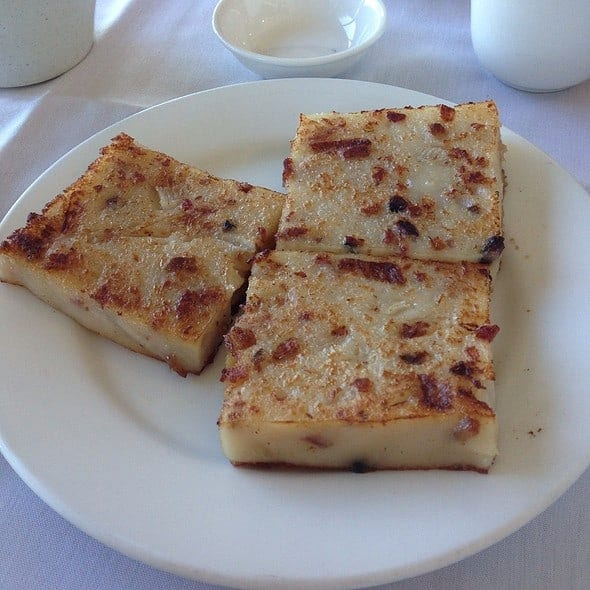 San Francisco Bay Area Dimsum - Pan-Fried-Turnip-Cake