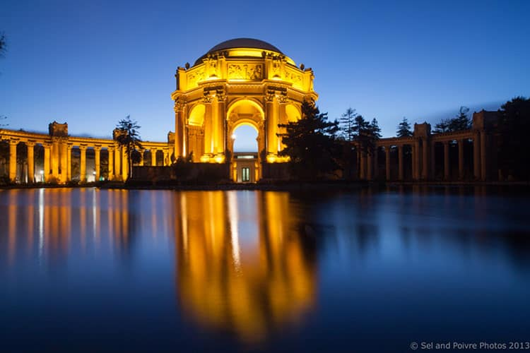 Palace of Fine Arts by Night