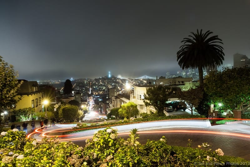 San Francisco by Night: Lombard Street