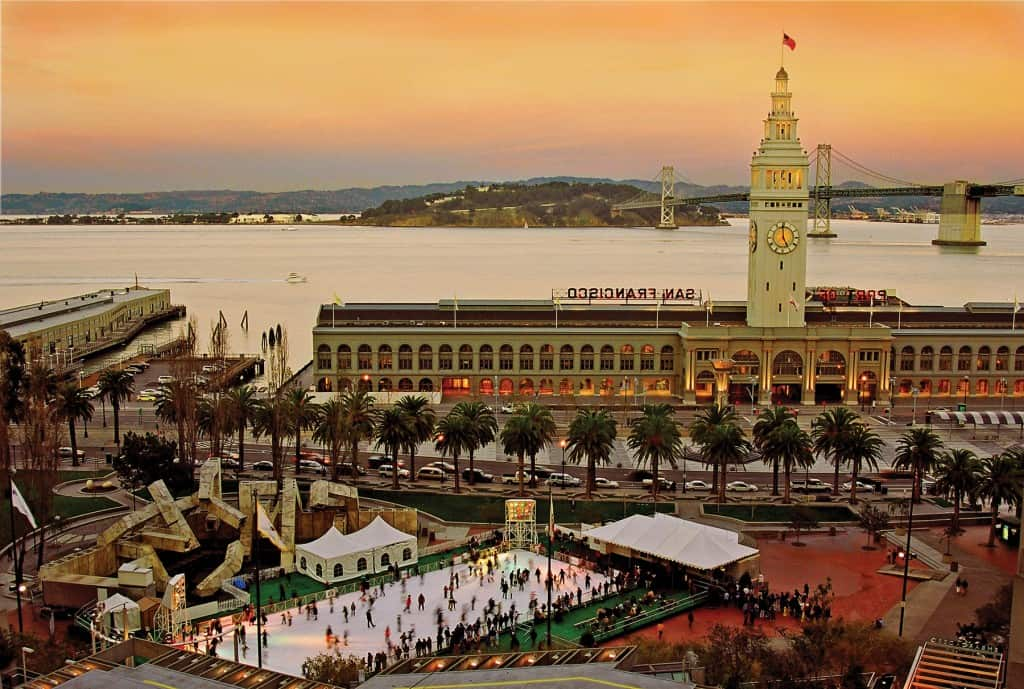 Ferry Building/Embarcadero Ice Rink Winter 2003-4