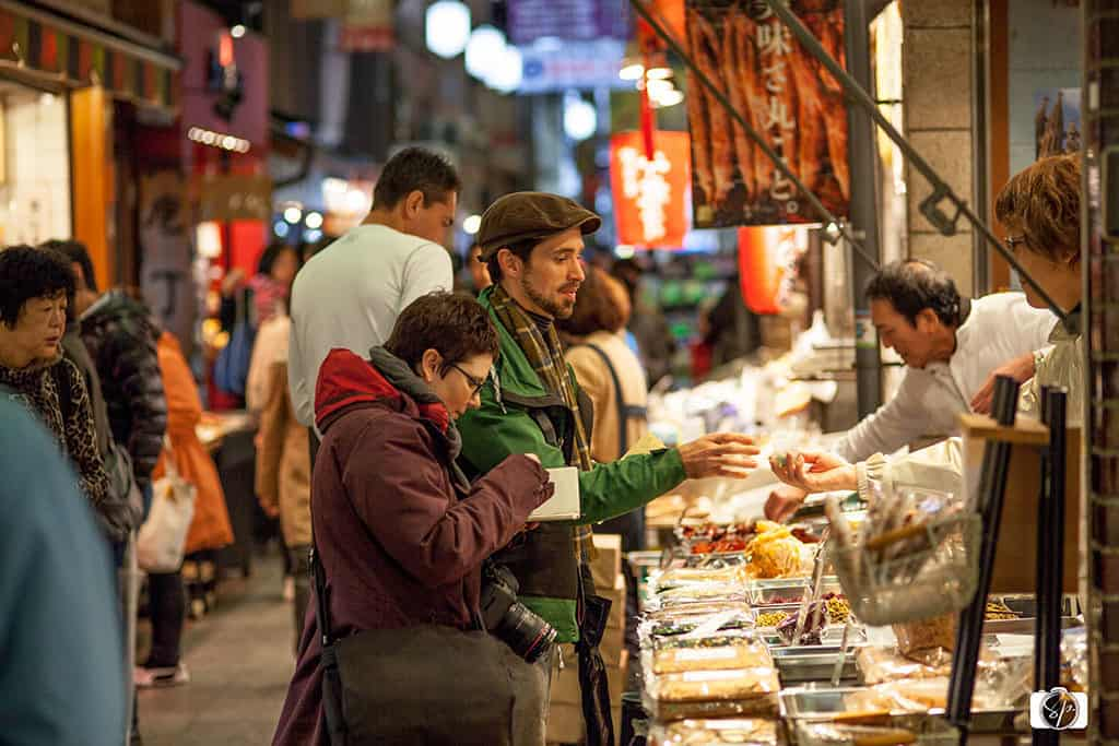 Daniel sharing his knowledge with me in Kyoto Nishiki Market