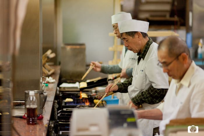 Making Tamago in Kyoto Nishiki Market.
