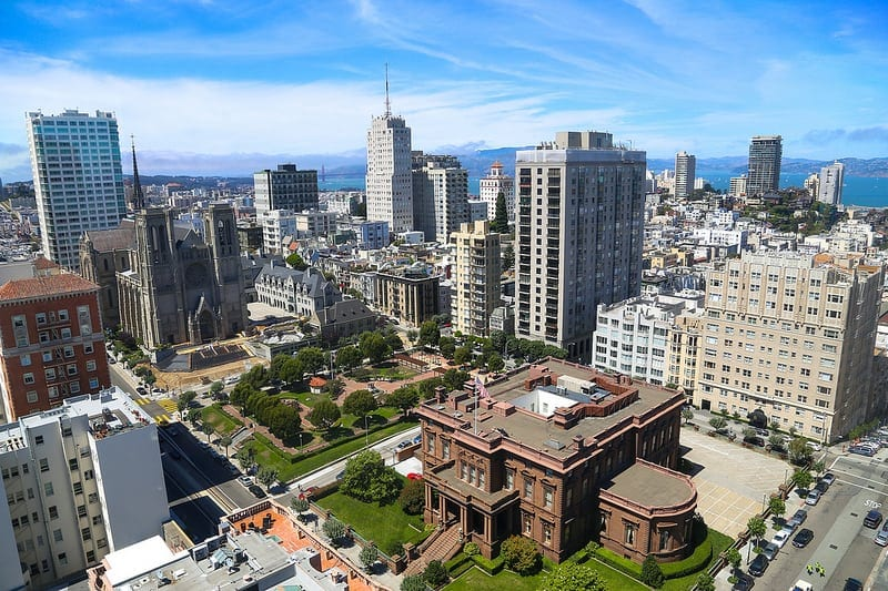 View of the city from Nob Hill