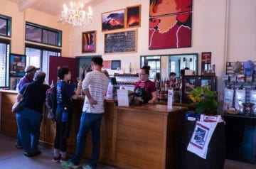 Inside Volcano Winery Tasting Room
