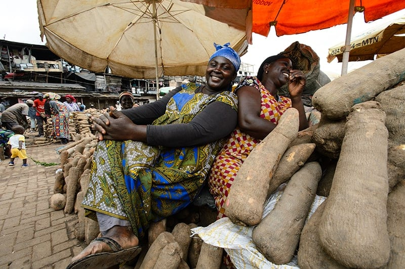 Yam Sellers in Kejetia Market