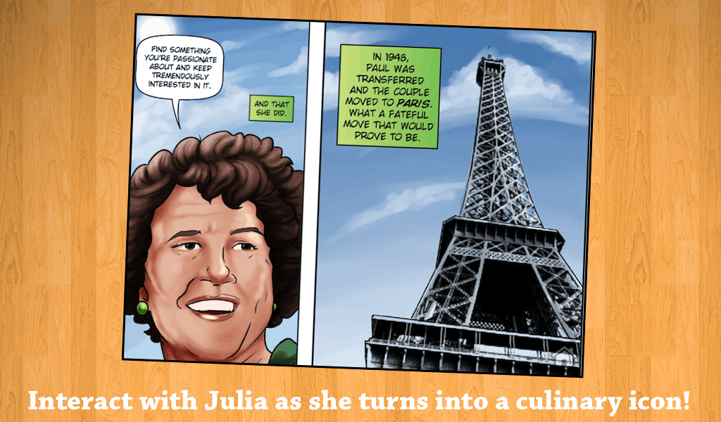 Female Force: Julia Child Interactive Comic Book App