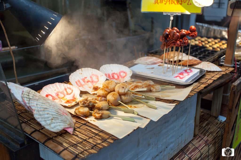 Scallops Osaka's Kuromon-Ichiba Market