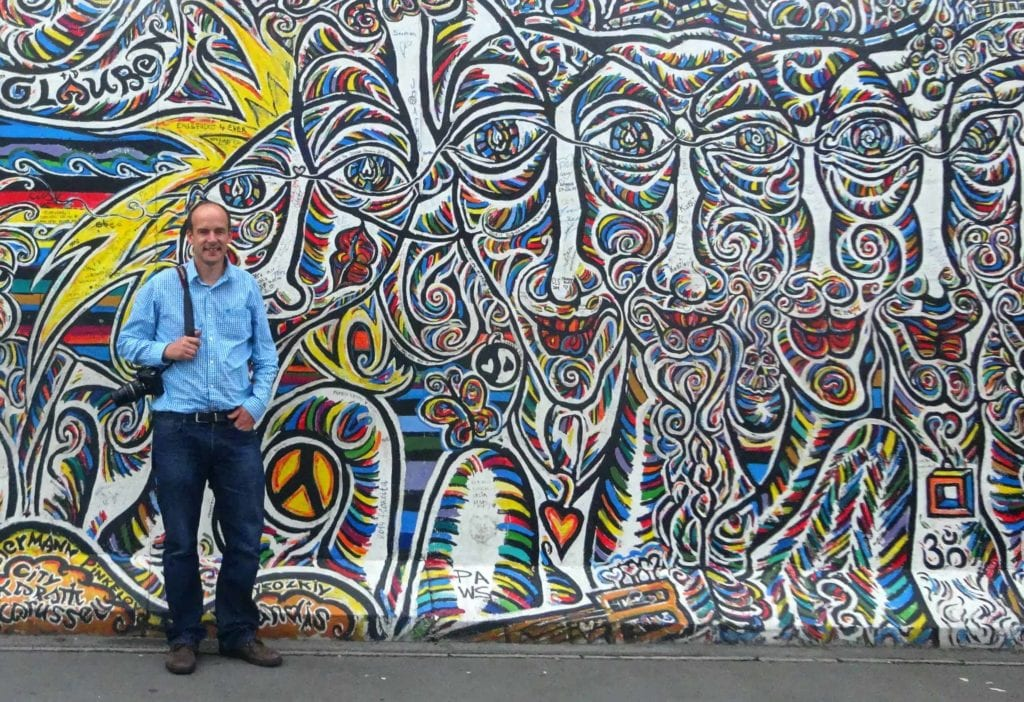 Paul at the Berlin Wall