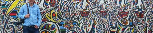 Paul at the Berlin Wall
