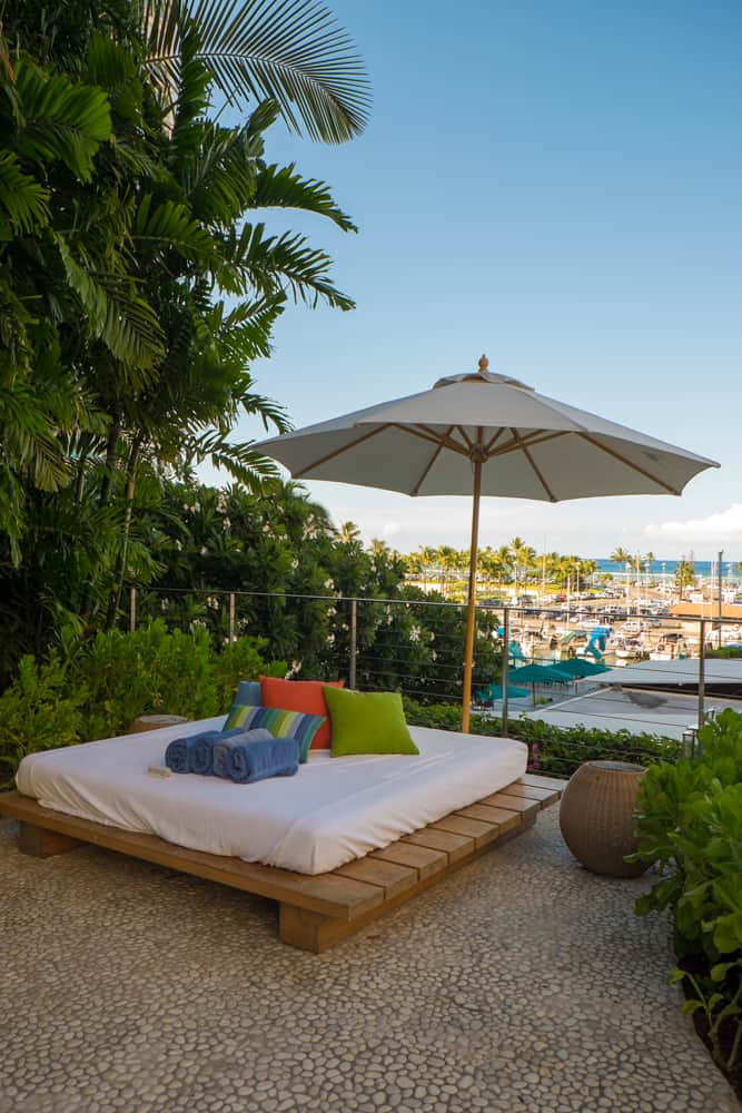 The Modern Honolulu pool daybed