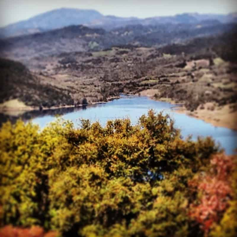 View of Lake Hennesy from Colgin Cellars on Pritchard Hill. Photo credit: Michael Butler