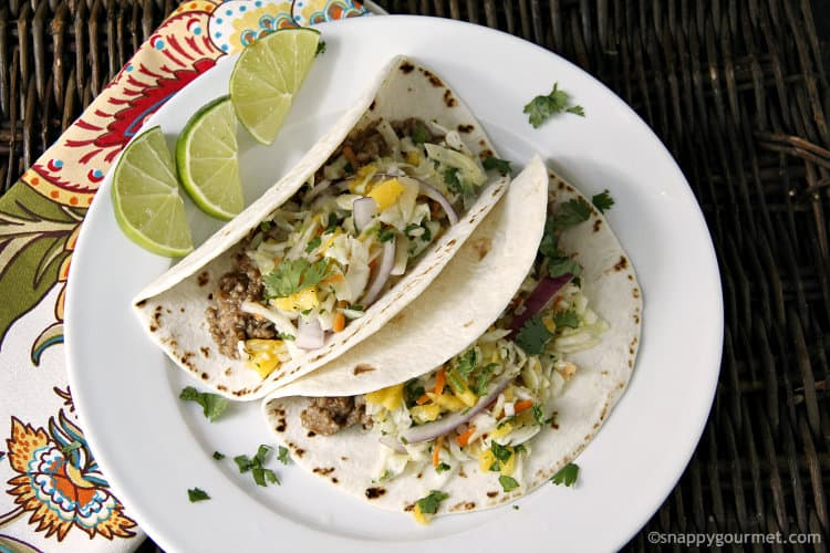 Food blogger interview - Lisa of Snappy Gourmet - Caribbean Tacos