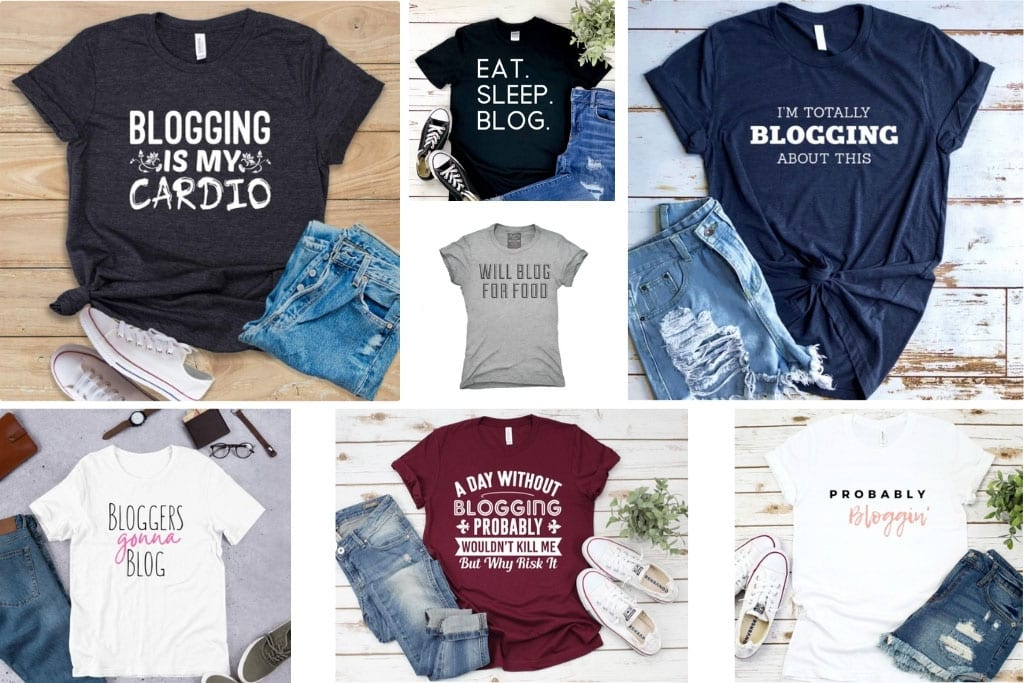 Gifts for Bloggers - Fun Blogging T-shirts