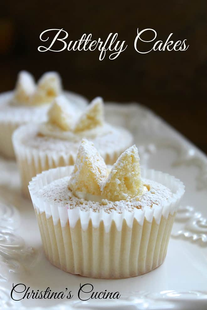 Food Blogger Christina Conte of Christina's Cucina butterfly cakes