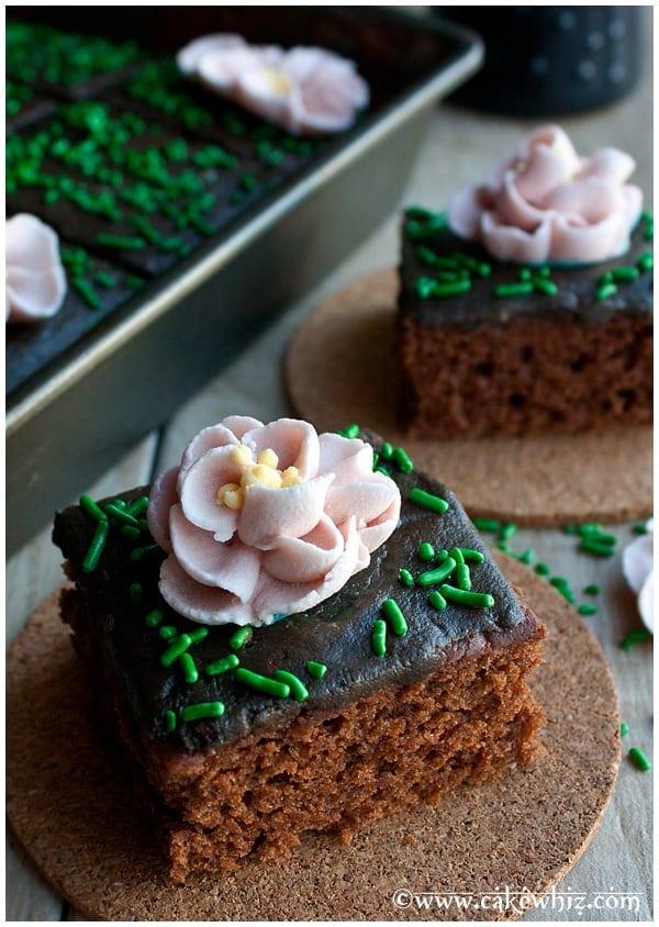 Food blogger Abeer of Cake Whiz crazy wacky depression cake