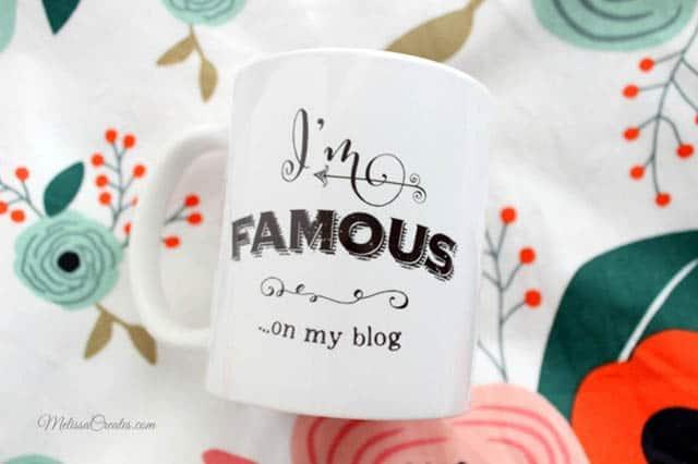 I;m famous on my blog