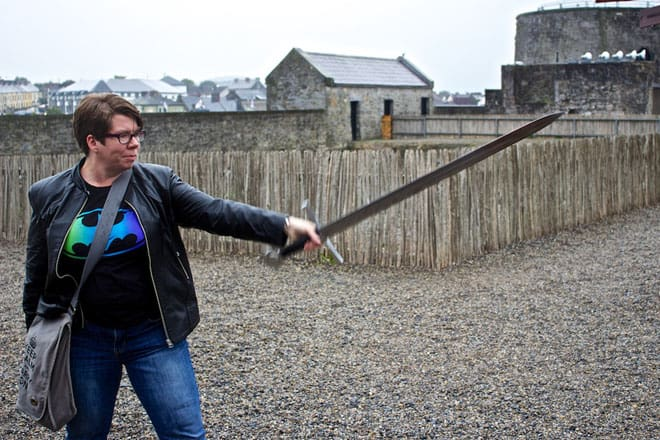 A Nerd at Large Sword St Johns Castle Limerick660