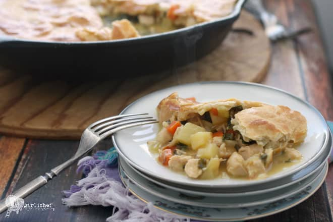 Food blogger Heather of All Roads Lead to the Kitchen Chicken Pot Pie