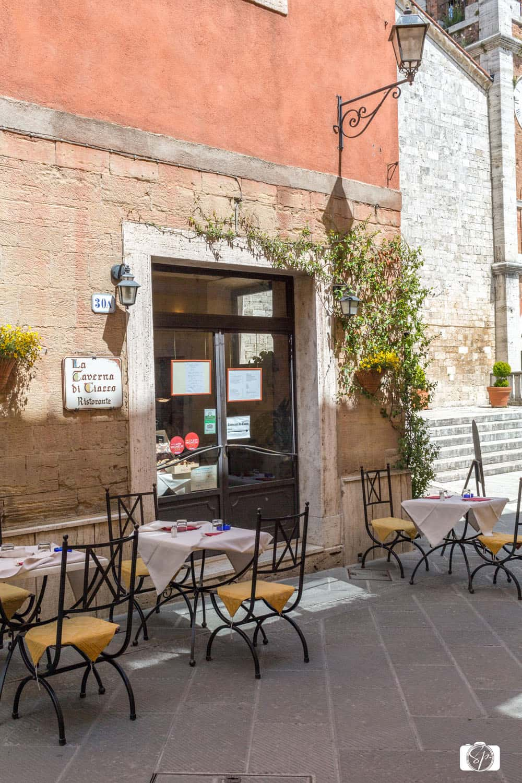 La Bottega Di Cacio Restaurant in San Quirico d'Orcia in Tuscany Italy