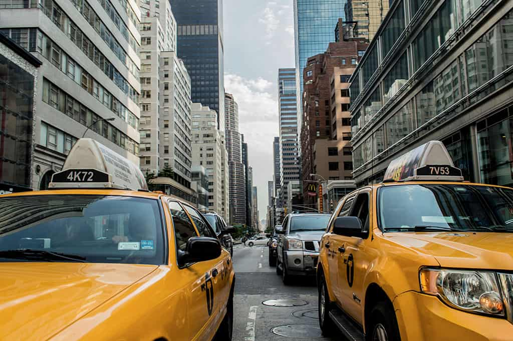 Taxis in New York City New York USA