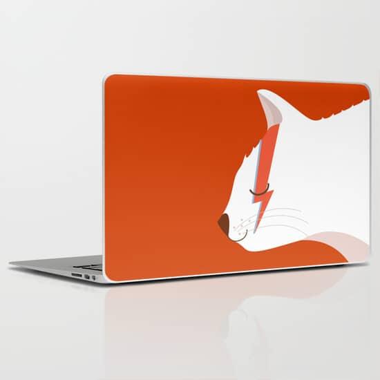 Kitten Rain Laptop Cover
