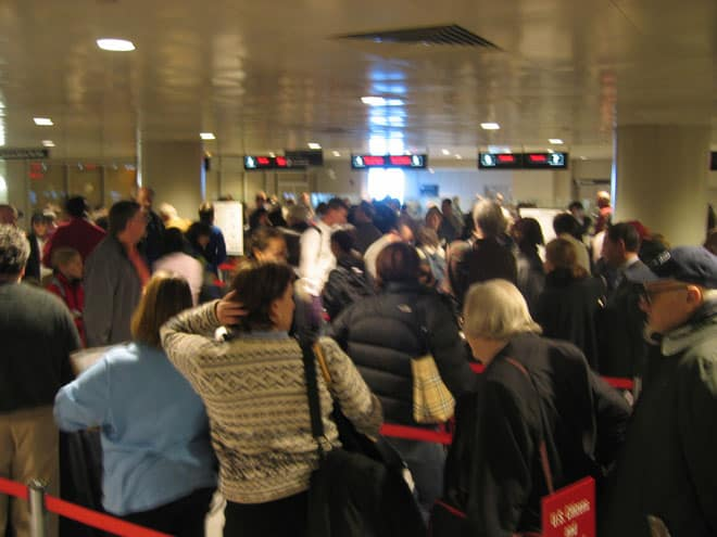 Holiday Travel Hacks Airport Security Line