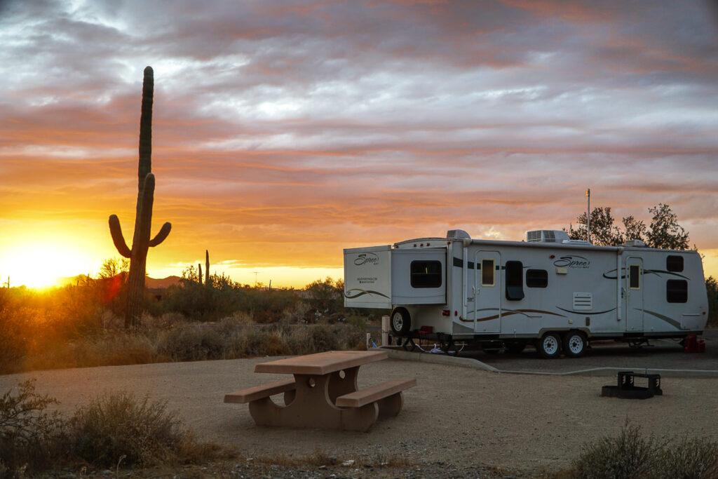 Camping with Saguaros Cave Creek Regional Park