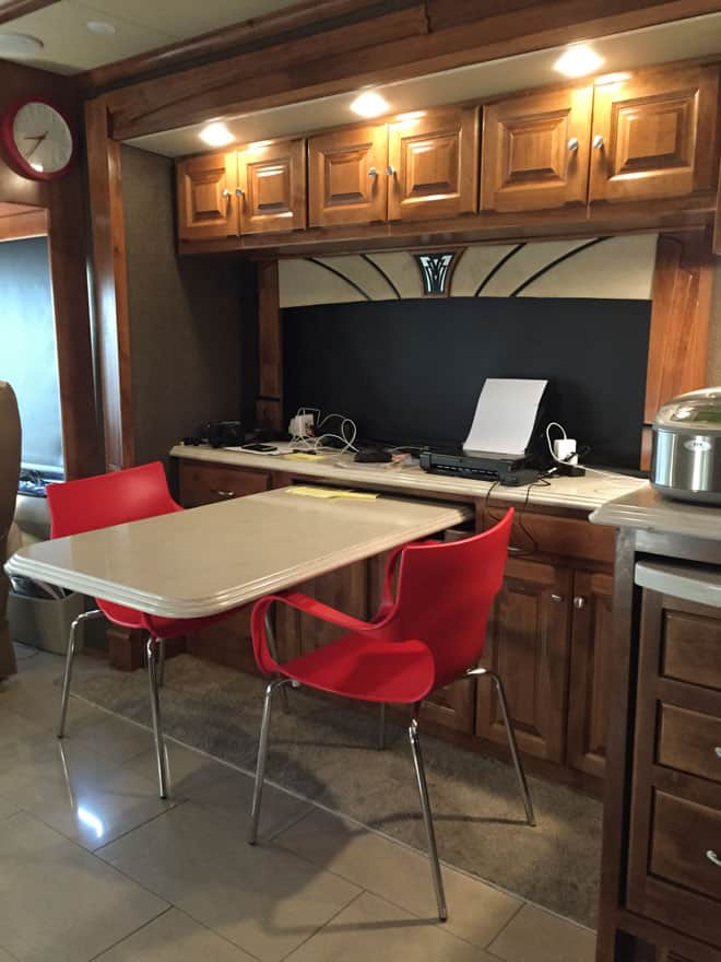 Inside-our-RV-Sneak-Peek-Dining-Office