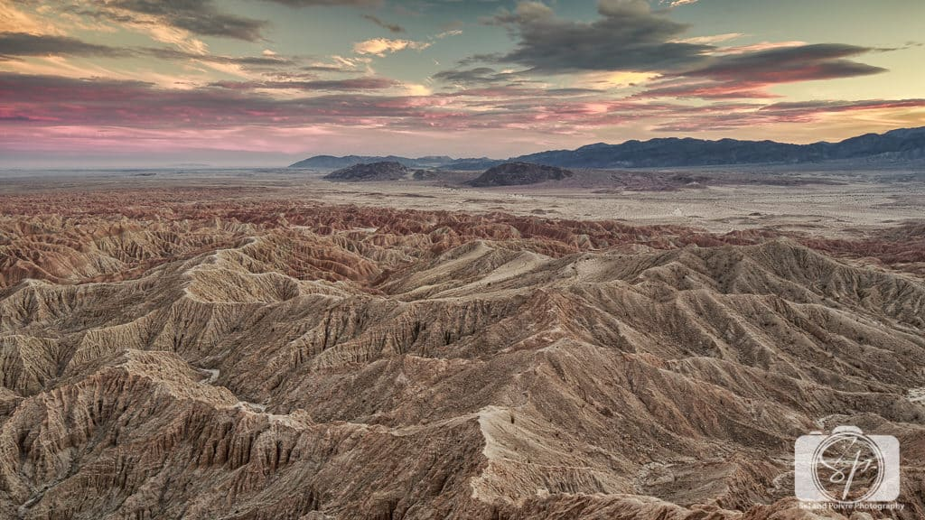 Sunset at Fonts Point Borrego Springs California