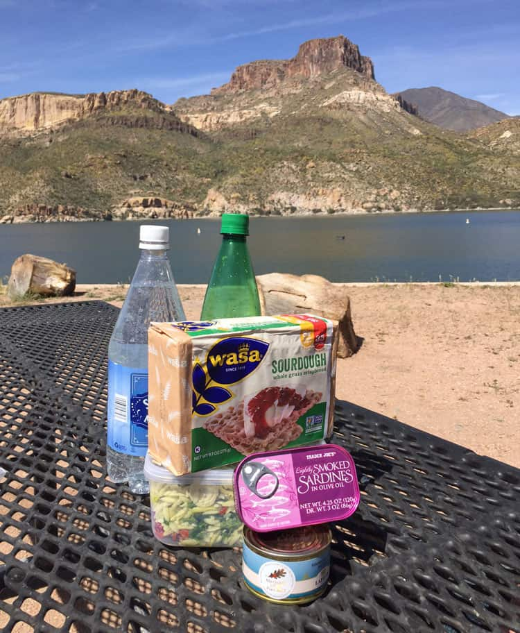 Apache-Trail-Picnic on Apache Lake at Apache lake Resort