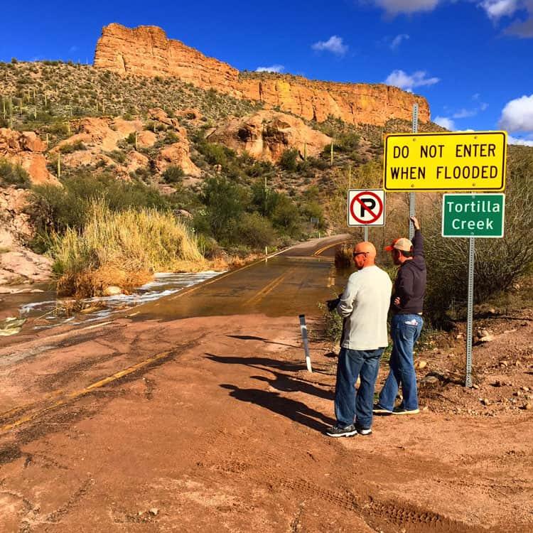 Flooded-Apache-Trail-Entrance