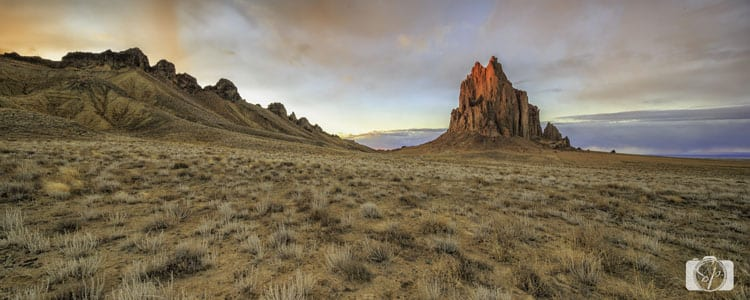 NEW MEXICO-Shiprock-Sunset