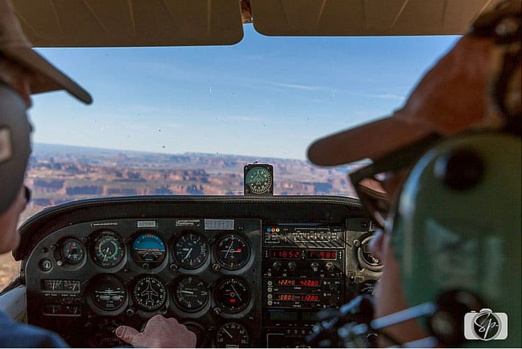 Flying over Canyonlands in Moab