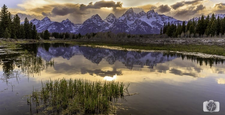 Grand Teton National Park Schwabacher Landing Sunset 1