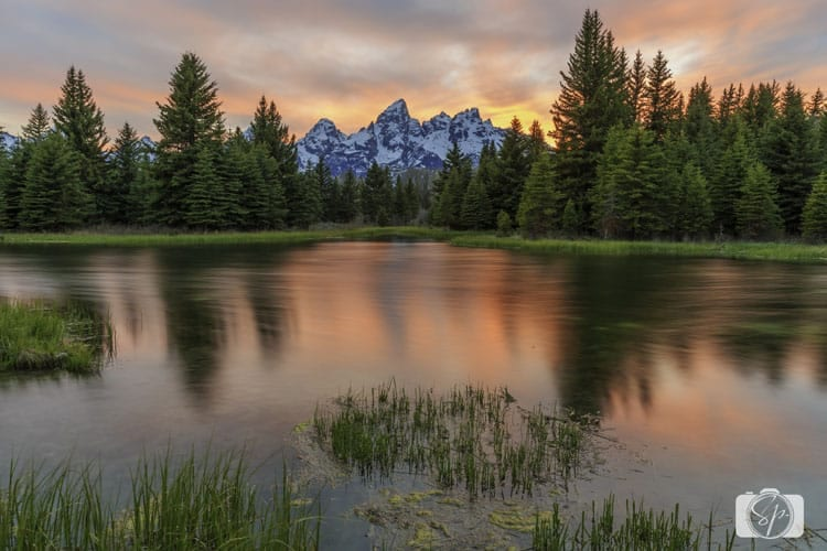 Grand Teton National Park Shwabacher Landing sunset