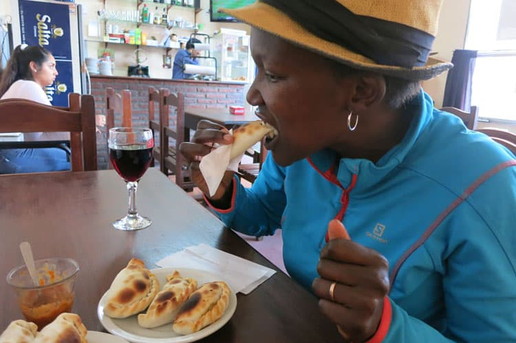 Rosemary Eating Empanadas Salta Authentic Food Quest