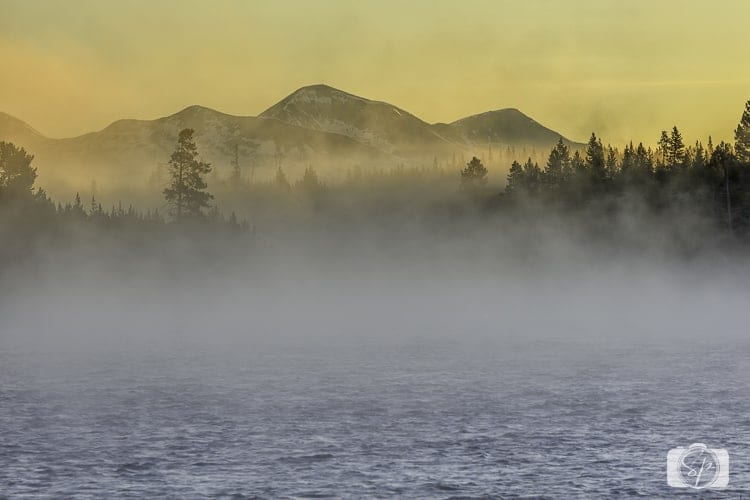 yellowstone national park madison river sunrise