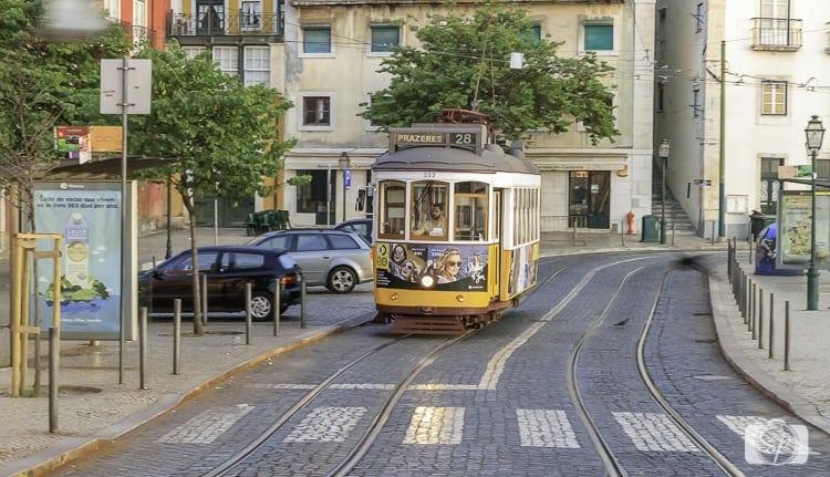Lisbon Tram Line 28 near Portas do Sol