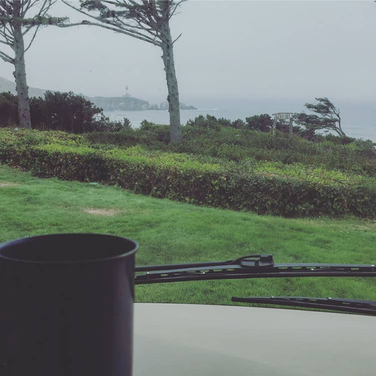 Morning-Coffee in the RV