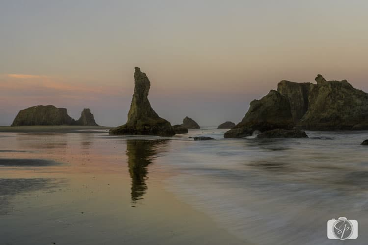 oregon coast bandon face rock sunrise