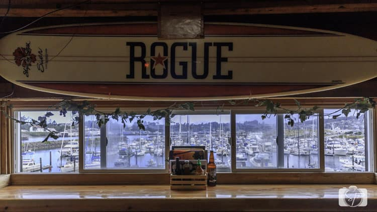 rogue ales headquarters pub window