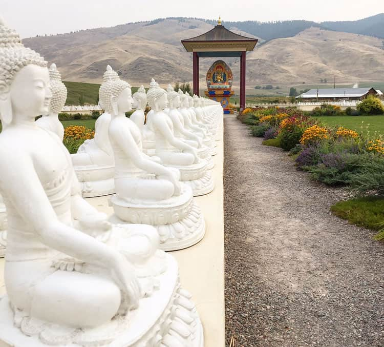 Five things to do on the way to glacier national park misadventures with andi Garden of one thousand buddhas