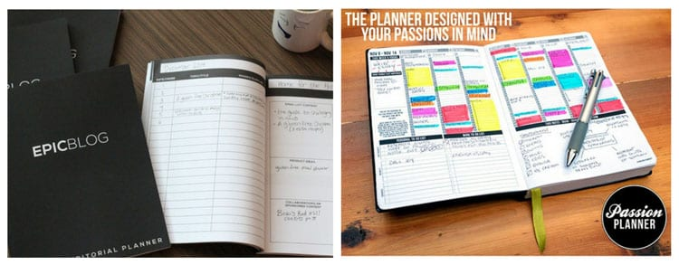 gifts for bloggers: blog planners